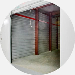 Photo of the interior of a self-storage unit