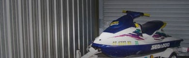 Photo of indoor jet ski storage unit