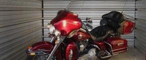 Photo of motorcycle storage